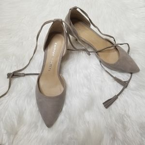 Chinese Laundry 》Suede Pointed Toe Lace Ankle Heel